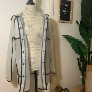 Clear Raincoat with Black Outline Details